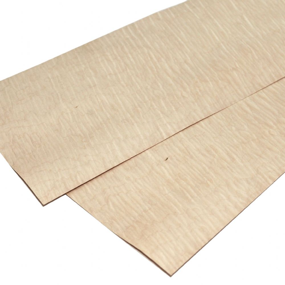 "Figured Maple - Set of 2 sheets 22"" x 8"" ( 56 x 20 cm )"